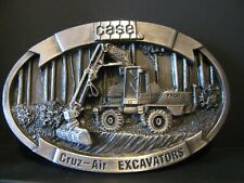 *Case 1085B Cruz-Air Rubber Tired Excavator 1988 Pewter Belt Buckle Construction