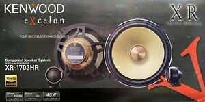 """NEW Kenwood XR1703HR 6.75"""" 2-Way Component Car Stereo Speakers - 1 Pair 6-3/4"""""""