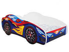 CHILDRENS BED TODDLER KIDS RACING CAR BED + FREE MATTRESS 140x70 *6 DESIGNS*