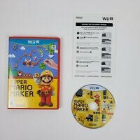 Super Mario Maker Nintendo Wii U Complete with Manual CIB Free Shipping