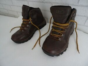 HI GEAR WOMEN'S DARK BROWN LEATHER SNOWDON WP WATERPROOF HIKING BOOTS SIZE UK 6