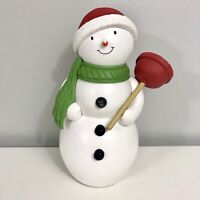 Hallmark Jolly In The John Motion Activated Talking Singing Snowman with Plunger
