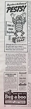 1939 Bug-a-boo Insecticide Soap Enemy of Pests Original Ad
