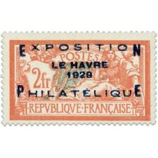 FRANCE N°257A, EXPOSITION DU HAVRE, TIMBRE NEUF* SIGNÉ-1929