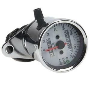 Motorcycle LED 12V Backlight Dual Odometer Speedometer Gauge Universal Fit Honda