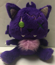 Monster High Just Play Crescent Clawdeen Wolf Pet Plush Purple Kitty Goth Cat 6""