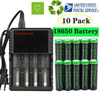 Garberiel Battery 3.7V Rechargeable Batteries For LED Flashlight Head Torch
