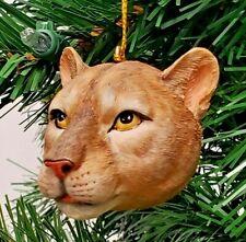 "Mountain Lion Head Christmas Ornament 3"" Slavic Treasures"