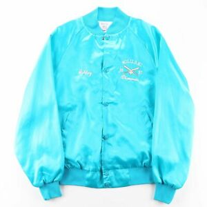 Vintage WEST ARK  Blue 90s Nylon Casual Varsity Jacket Womens S