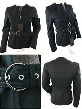 GUCCI Women Belted Fitted Black Blazer, Jacket .Size IT 38,UK 6, XXS