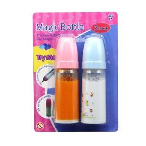 2X Baby Doll Bottle Learning Gift Girl Role Play Disappearing Kid Toy Milk