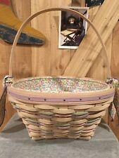 """12"""" Large Longaberger Basket Classic Easter with Jellybean fabric liner"""