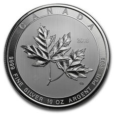 2018 Canada 10 oz Silver $50 Magnificent Maple Leaves BU - SKU#166660