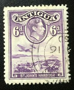 Antigua and Barbuda 1938 6 P violet King George VI. (Collectible Stamp)