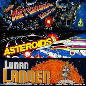 Asteroids Deluxe Multigame Free Play & High Score Save Kit - Plays 3 arcade game