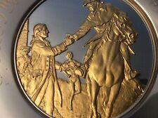 Franklin mint solid sterling silver,24 Kt gold plate