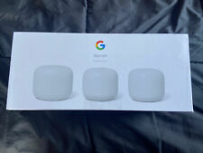 Google Nest Wifi AC2200 Router and 2 Points - Snow - 061