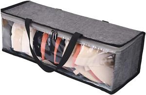 Hat Storage Bag Clear Rack Travel Case Holder Zipper Baseball Cap Organizer Gray