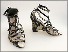 CROSBY DEREK LAM WOMEN'S DESIGNER WEDGED SANDALS SHOES SIZE 8.5 M