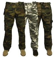 "New Mens Forge Combat Cargo Camo Army Work Pants Trousers Casual Sizes 28"" - 70"""