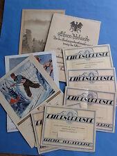Harzer Ski Verband etc Konvolut Urkunden 20er / 30er Jahre alle von einer Person