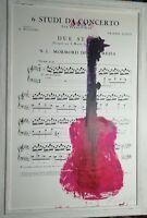 Giuseppe Chiari, Acrilico e spartito musicale pezzo unico  con cornice