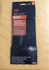 3M Auto Advanced 800 Grit Wetordry Sandpaper 03022 5 Sheets Per Pack