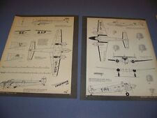 VINTAGE.LOCKHEED MODEL 12 & T2J-1 BUCKEYE..7-VIEWS/CROSS SECTIONS...RARE! (728K)