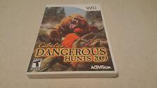 Cabela's Dangerous Hunts 2009 (Nintendo Wii, 2008) COMPLETE