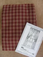 "Park Designs 72""Wx 84""L STURBRIDGE Wine & Tan LINED Plaid Curtain Panels"