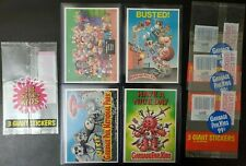 Garbage Pail Kids GPK - 1986 Giant Series 1 and 2 - Four Card Lot + Wrappers