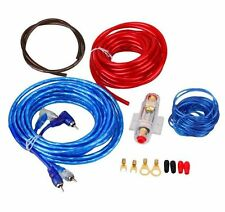 Car Audio Subwoofer Sub Amplifier AMP RCA Wiring Kit Cable AGU FUSE