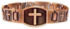 ProExl Large Copper Cross Christian Magnetic Bracelet  8.5 inch + Gift Box