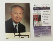 Juan Antonio Samaranch Signed Autographed 3.5 x 5 Photo JSA Certified Olympics