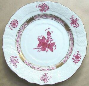 """HEREND APPONYI CHINESE BOUQUET AP 1515 PURPLE 6¼"""" SIDE PLATE (Ref7249)"""