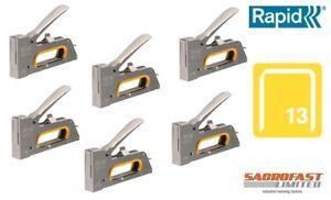 RAPID R23 FINE WIRE HAND STAPLE TACKER x 6