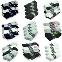 3-12 Pairs Mens Solid Sports Athletic Crew Cotton Casual Socks Size 9-11 10-13