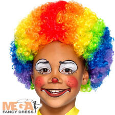 Rainbow Clown Wig Kids Fancy Dress Carnival Circus Childrens Kids Costume Wig