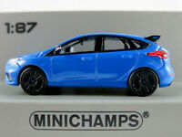 Minichamps 870 087200 Ford Focus RS (2018) in blaumet./schwarz 1:87/H0 NEU/OVP