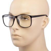 New Large Oversized Glasses Clear Lens Thin Frame Nerd Glasses Retro