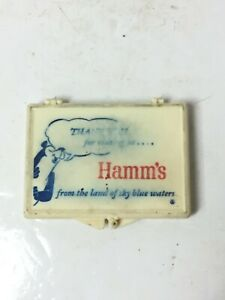 Vintage Hamm's Beer Sewing Repair Kit Used Advertising Pocket Plastic Case