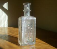 1870s Sperm Sewing Machine Oil Emb Sperm Whale Oil Bottle For Guns Etc cracked