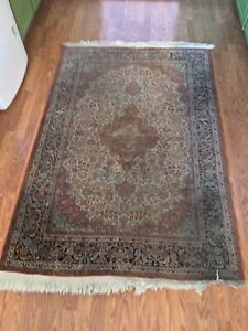Silk Rug 6 X 4 Ft. Special Rare exquisite Vintage Handmade One Of A Kind