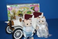 Calico Critters Rare Bride & Groom & Wedding Car in Box