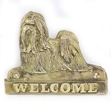 Shih Tzu - Messingplatte mit der Inschrift 'WELCOME' Art Dog DE