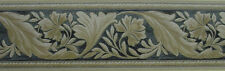 Sunworthy Black & Tan Textured Leaf Scroll Wallpaper Border - 51306090