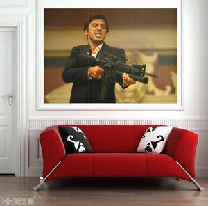 SCARFACE Movie POSTER Scar02 Al Pacino as Tony Montana 50x35 Giant Wall Art XXL