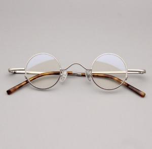 Ultralight Retro Small Round Eyeglass frames Personality Vintage Metal Glasses