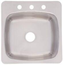 Franke Axis 20 Inch Wide X 10 Inch Deep Topmount 3 Hole Single