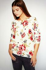 """$328 NWT JOIE """"ELOISA"""" ROSE PRINT CASHMERE SWEATER SIZE: S"""
